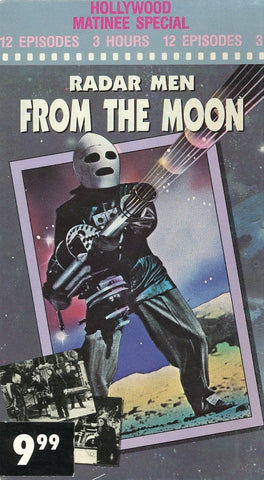 Radar Men From The Moon (2 Tape Set) VHS Movie (Brand New) - Hollywood Matinee Special - Rare Movie Set