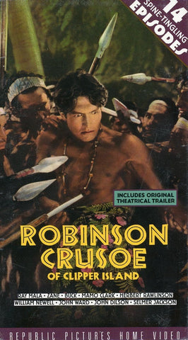 Robinson Crusoe Of Clipper Island (2 Tape Set) VHS Movie (Brand New) - Republic Pictures Home Video - Rare Movie Set