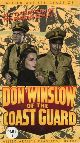 Don Winslow Of The Coast Guard (2 Tape Set) VHS Movie (Brand New) - Allied Artists Classics Library - Rare Movie Set