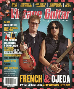 Vintage Guitar Magazine Back Issue - October 2014