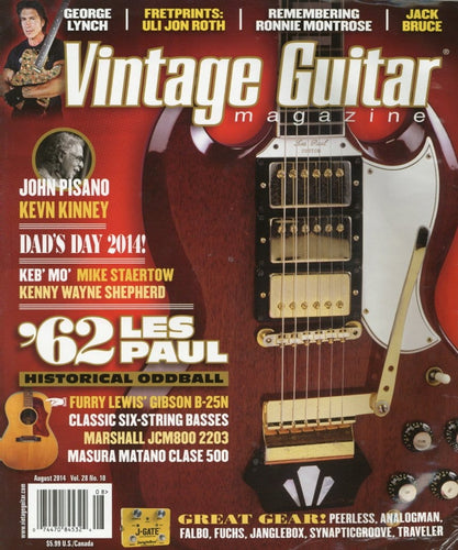 Vintage Guitar Magazine Back Issue - August 2014