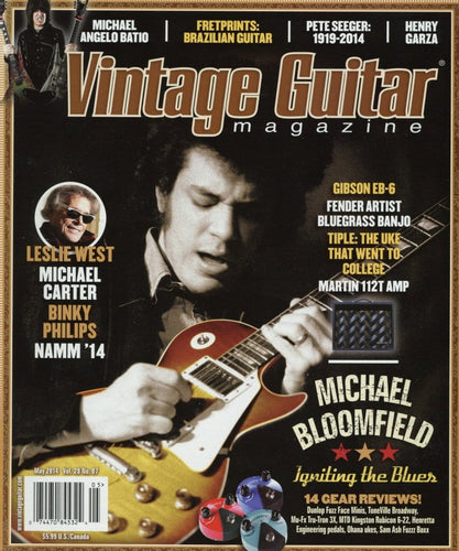Vintage Guitar Magazine Back Issue - May 2014