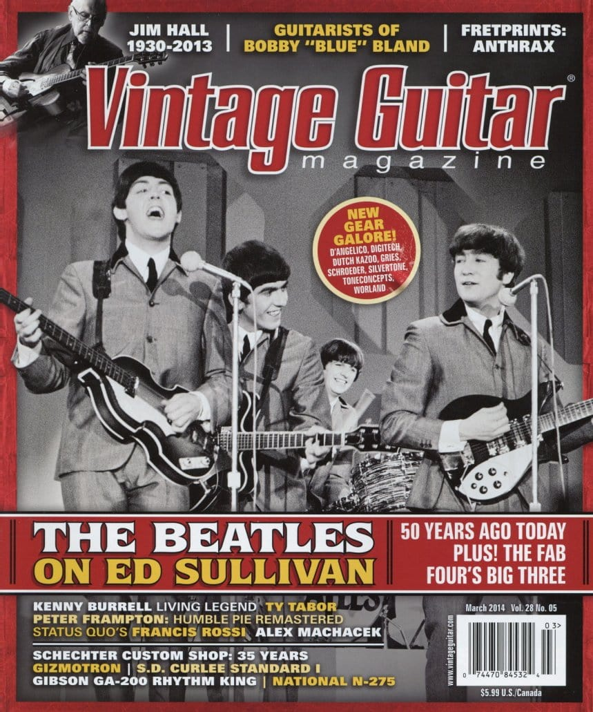 Vintage Guitar Magazine Back Issue - March 2014