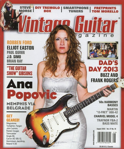 Vintage Guitar Magazine Back Issue - August 2013