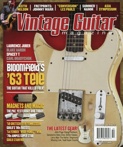 Vintage Guitar Magazine Back Issue - October 2015