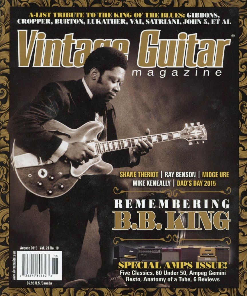 Vintage Guitar Magazine Back Issue - August 2015