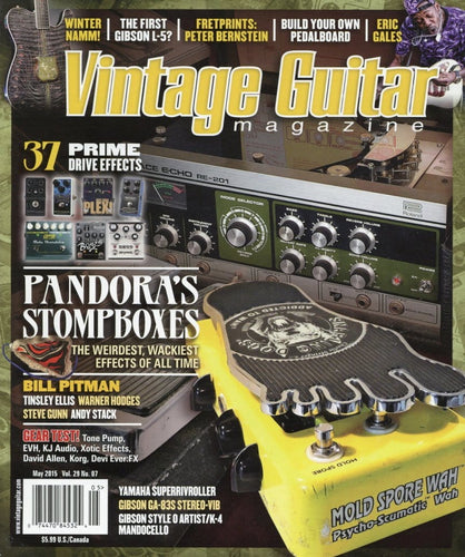 Vintage Guitar Magazine Back Issue - May 2015