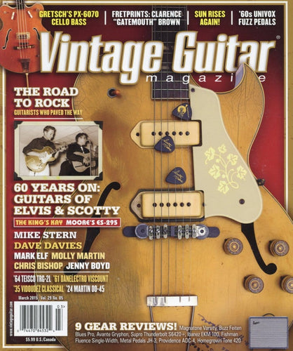 Vintage Guitar Magazine Back Issue - March 2015