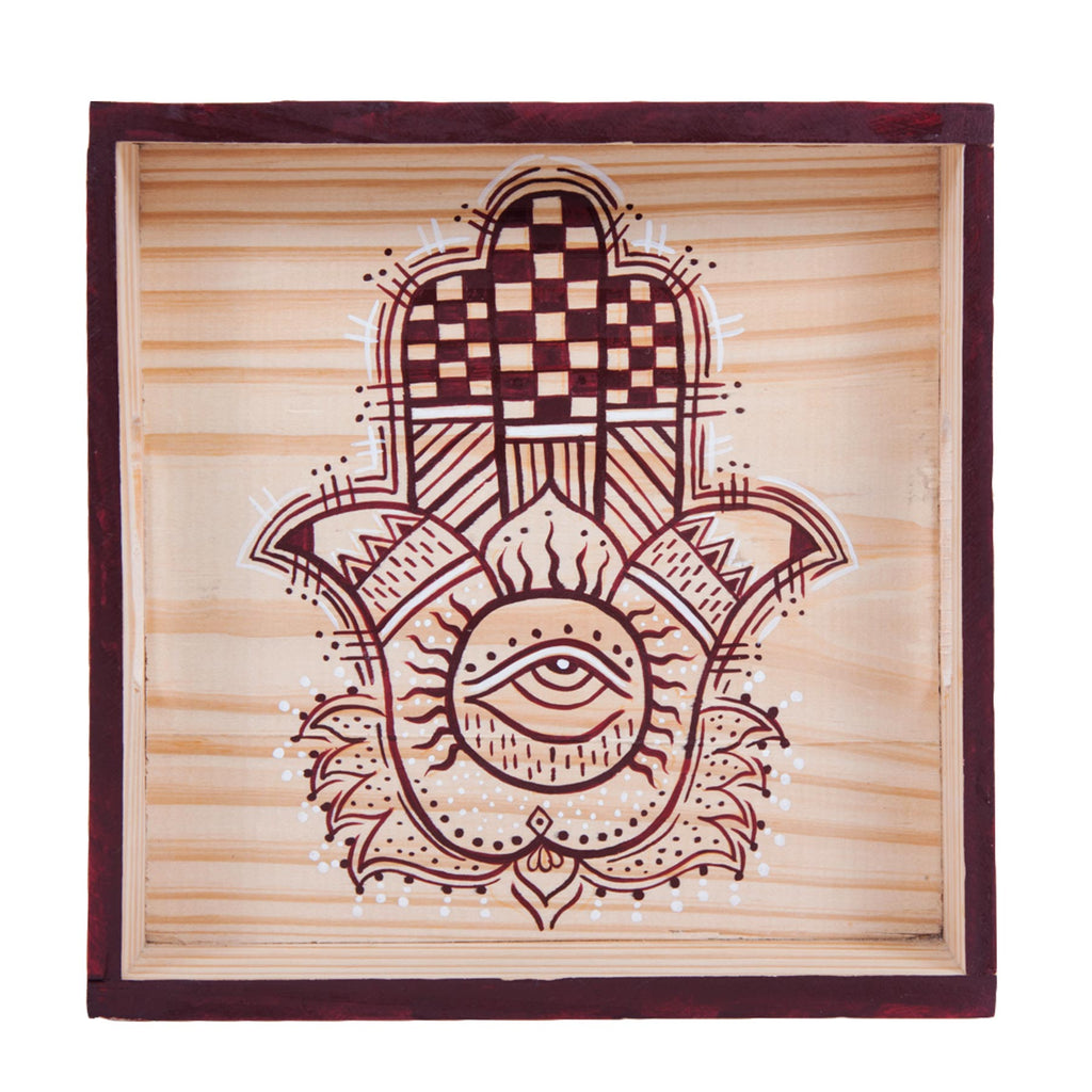 buy-dining-square-hand-painted-decorative-designer-wooden-tray-online-india