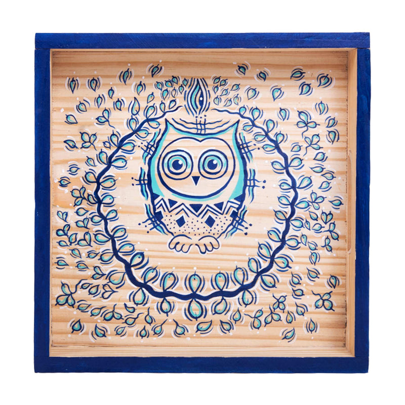 buy-tribal-decorative-beautiful-handmade-brown-branded-tea-dining-tray-online-india-indore-bangalore