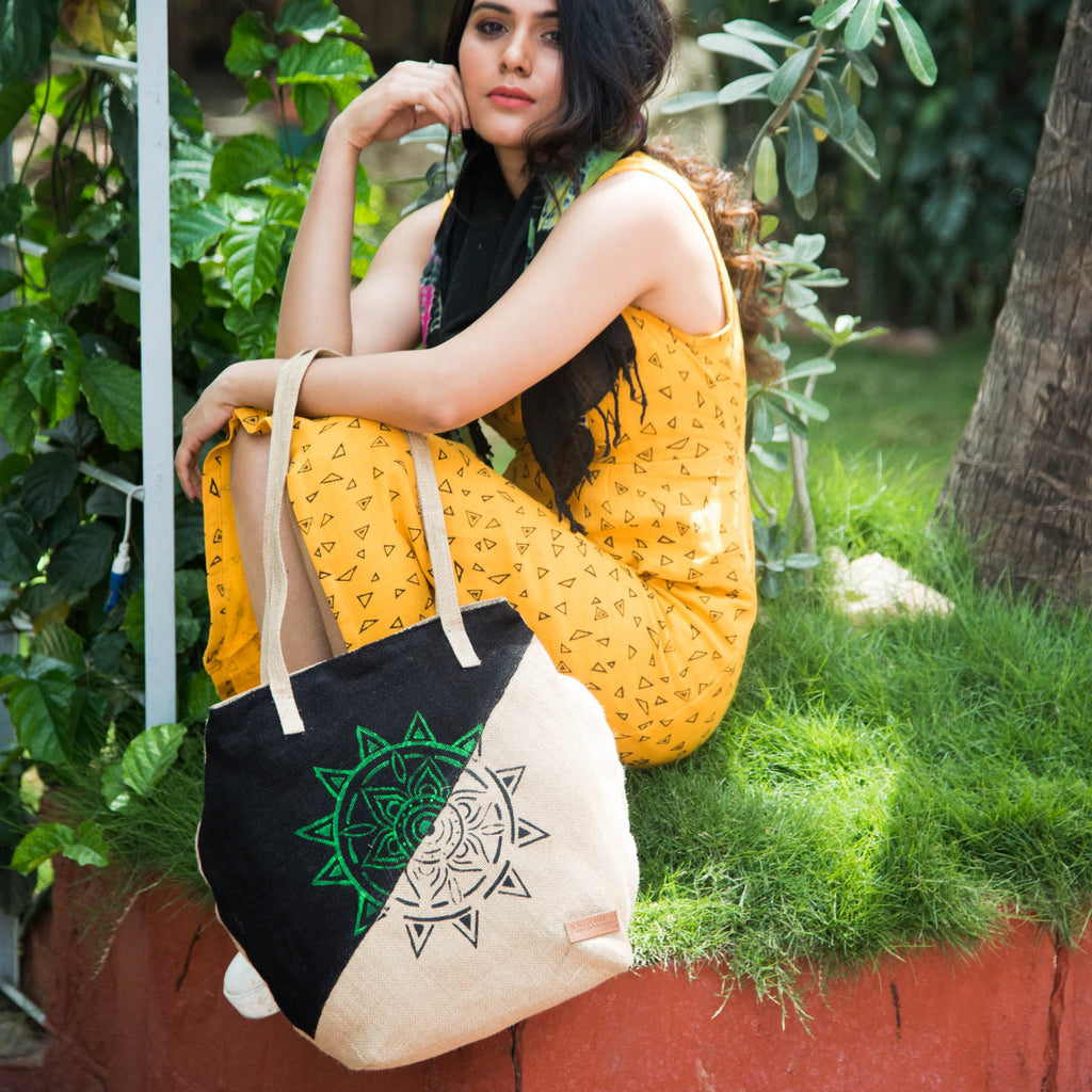 Neo-Mandla-Handpainted-Jute-Eco-Friendly-Female-Shopper-Bag
