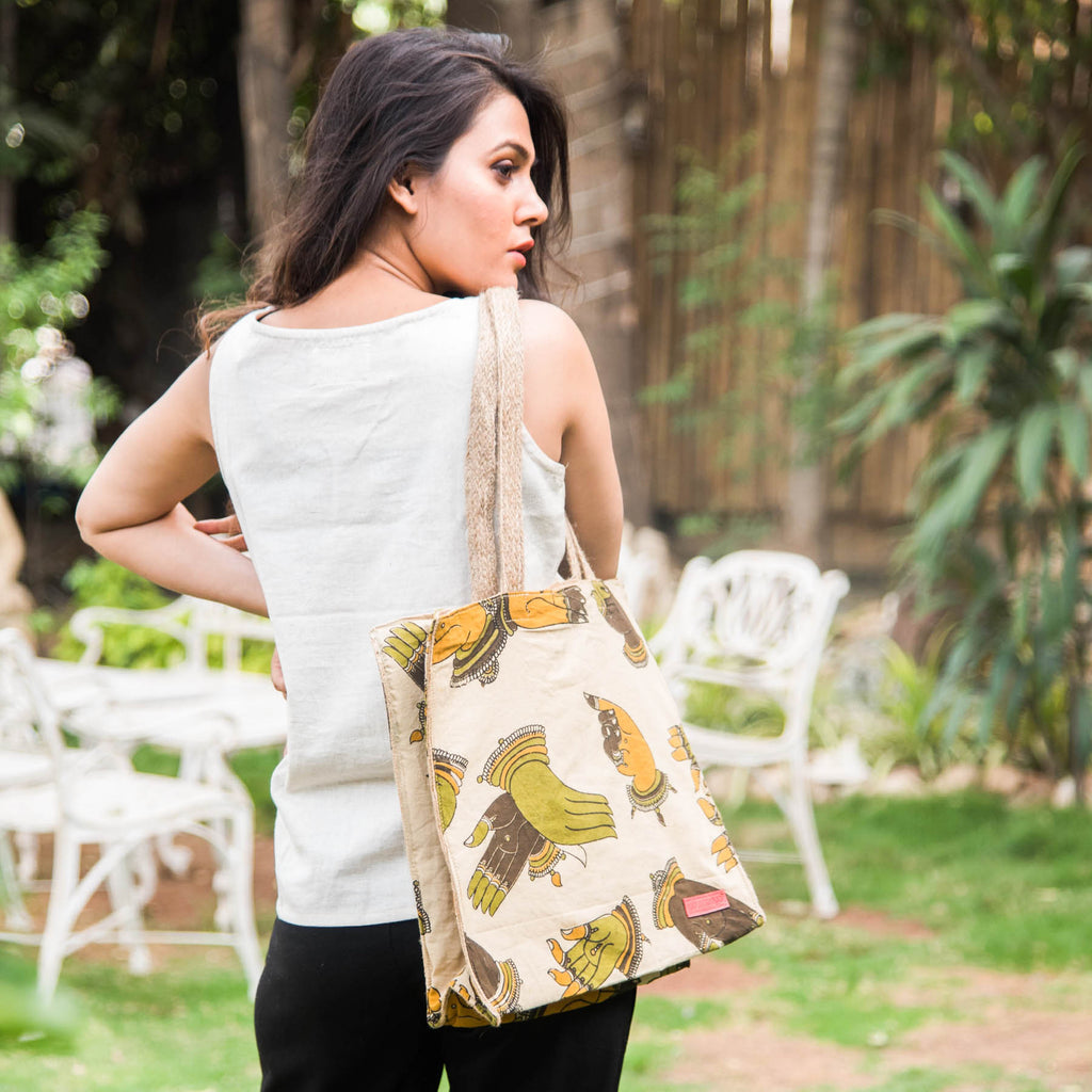 Kalam-Duo-Block-Printed-Eco-Friendly-Jute-Shopper-Bag