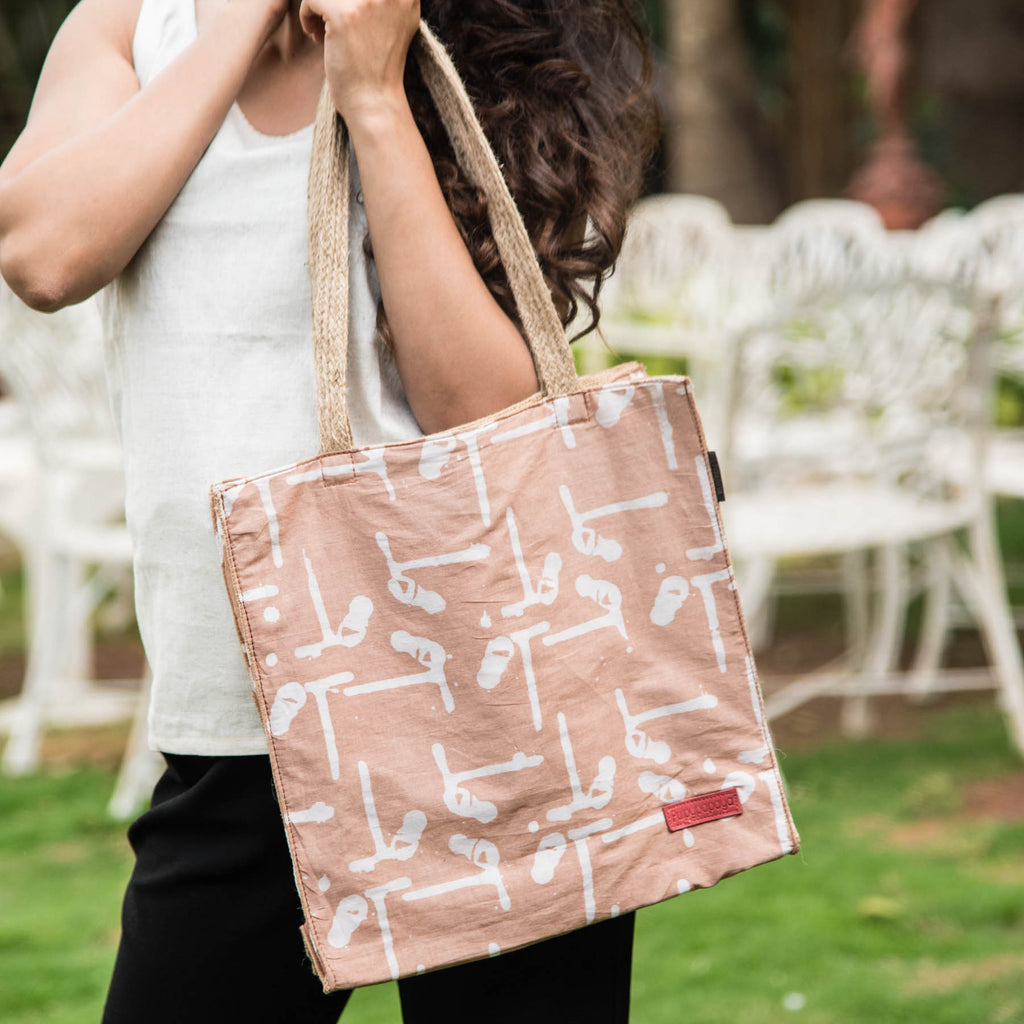 Cafe-T-Duo-Block-Printed-Eco-Friendly-Jute-Shopper-Bag
