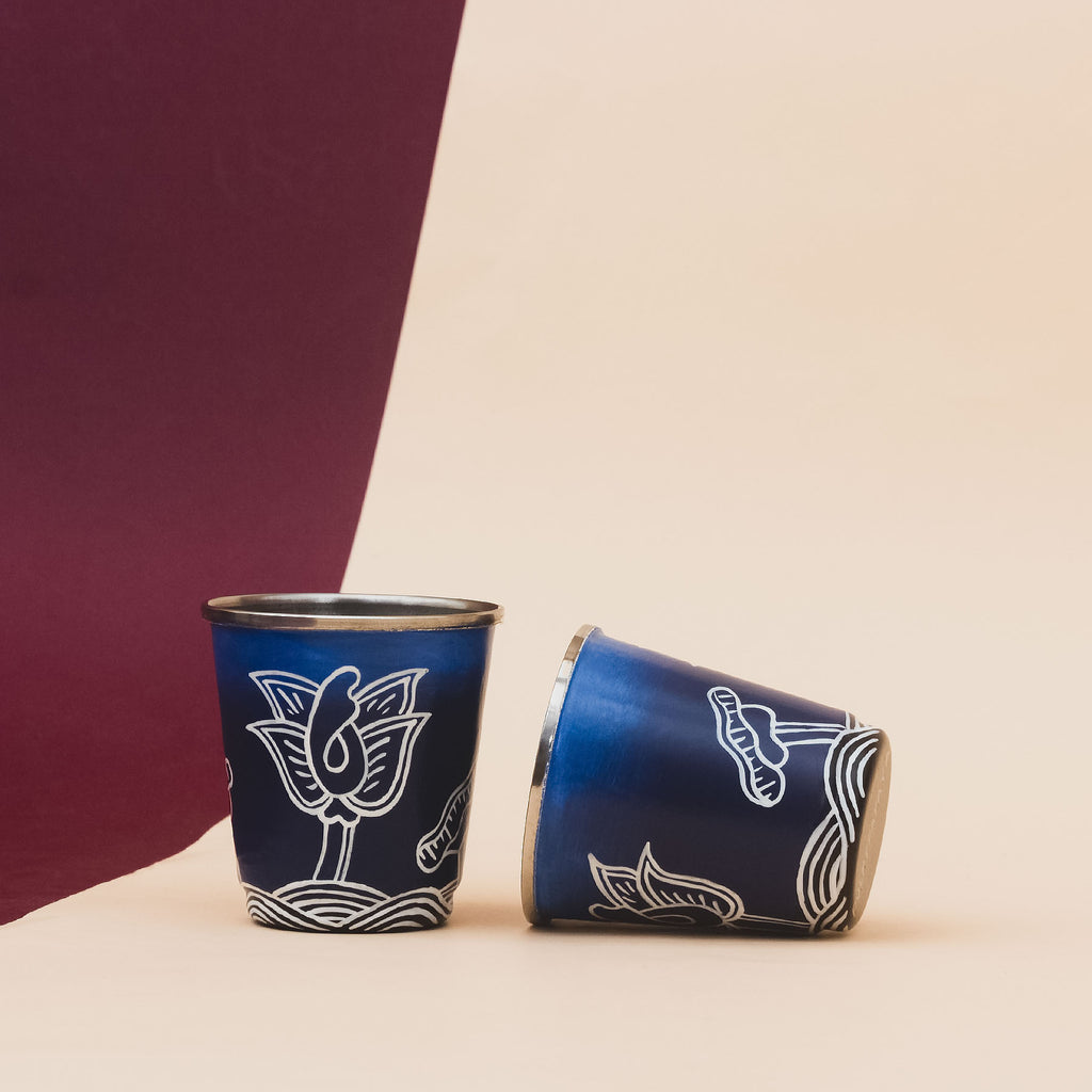 Thangka Lagoon Tiny Glasses Set of 2