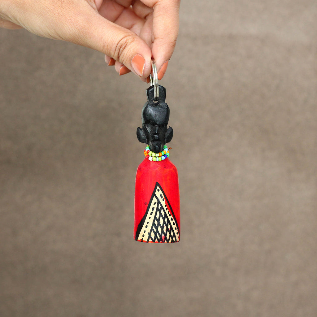 Afro Half Lady Key Chain
