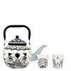 Afro Town Kettle With 2 Glasses - Pulpypapaya New