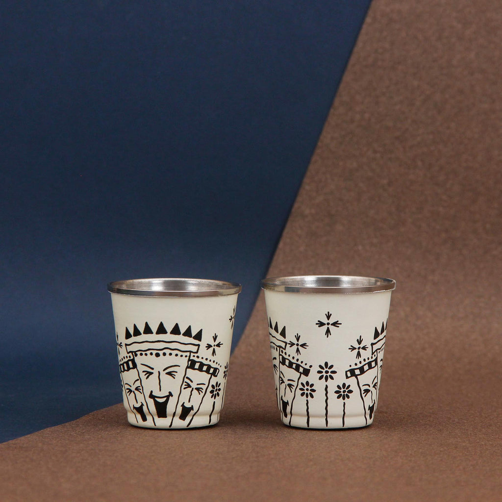 Afro Town Tiny Glasses Set of 2