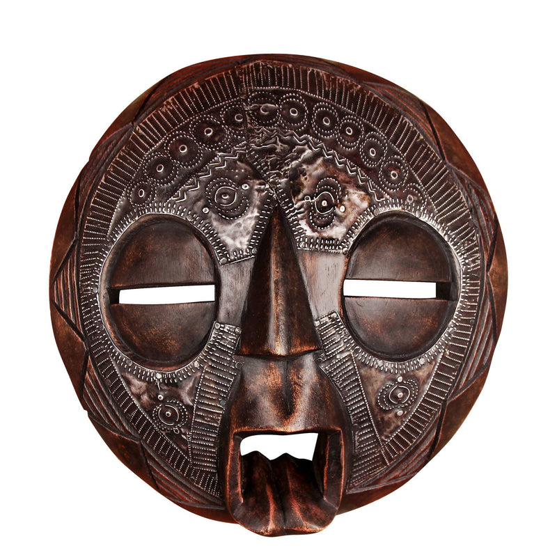 buy-african-hand-painted-tribal-handcrafted-hand-carved-multicolor-wooden-mask-online-india-indore