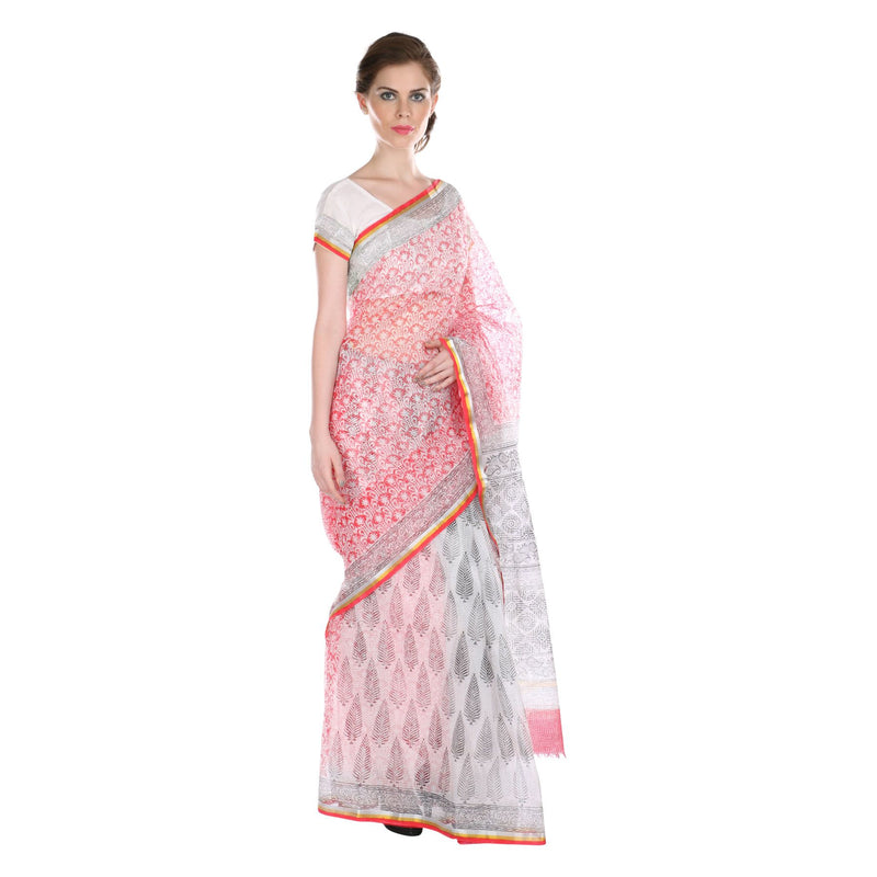 Black Pines Kota Doria Saree