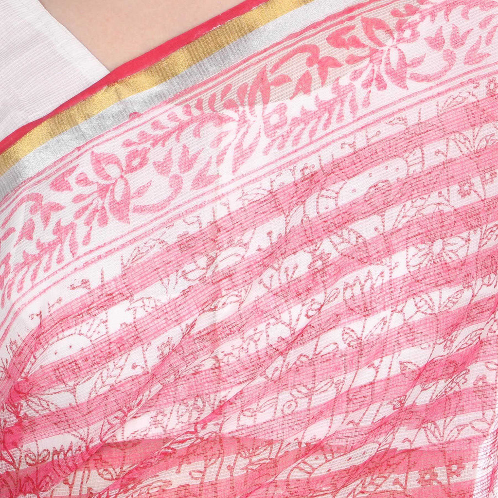 Blind Leaves Kota Doria Saree