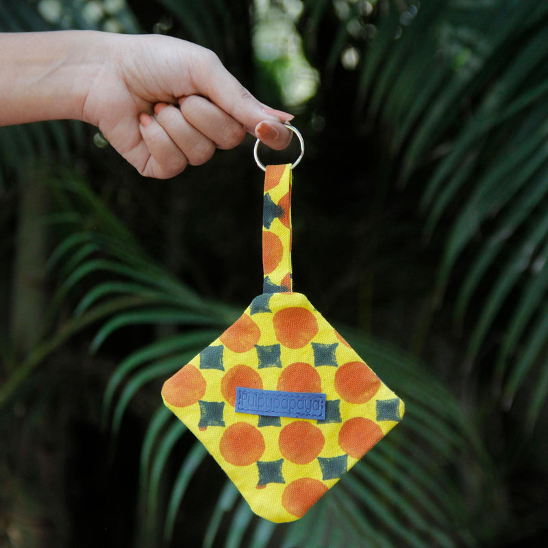 Canary Checkers Key Chain