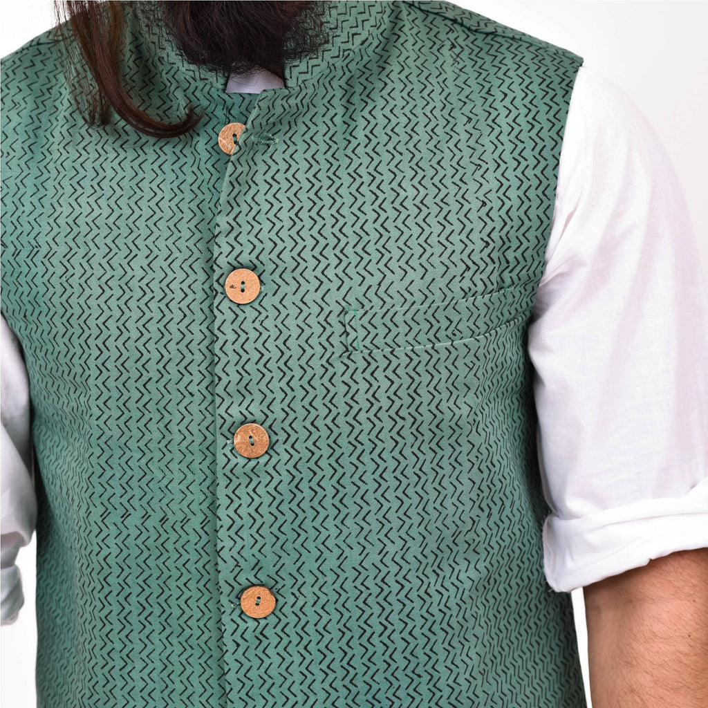 handcrafted-designer-block-printed-jacket-coconut-buttons-for-men-online