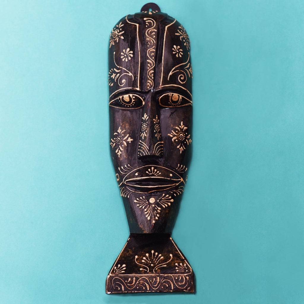 buy-indian-rajasthani-wooden-tribal-wall-black-mask-online-india-bangalore-uk