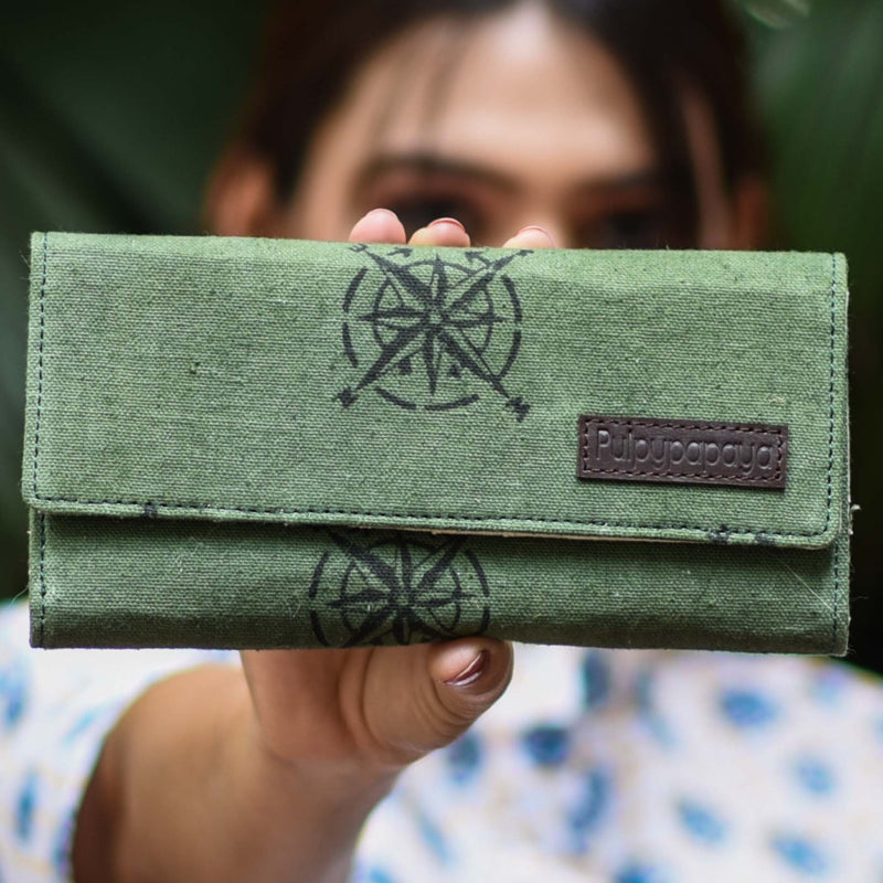 buy block printed cotton fabric canvas green olive clutch bag purse in india at crafinno.com