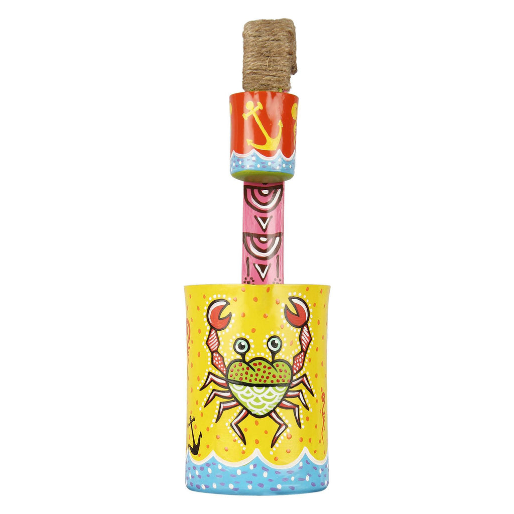 Online buy pencil cup crabby hand painted multi color pen stand pulpypapaya