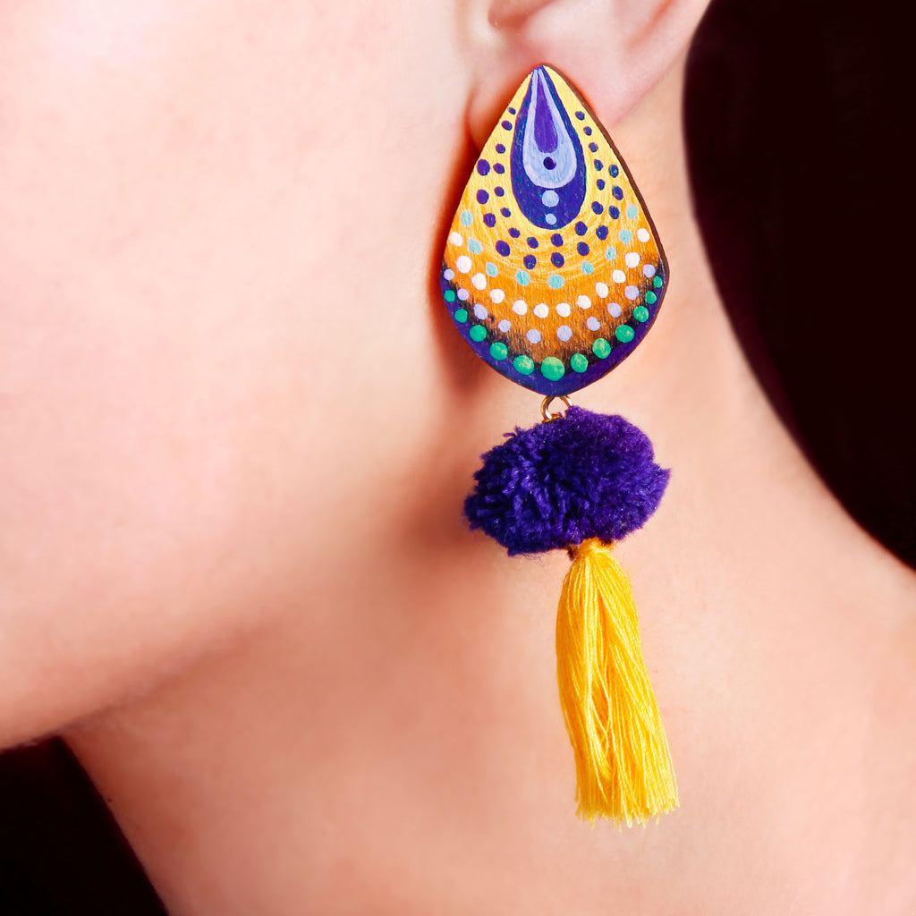 Feather Dots Earring