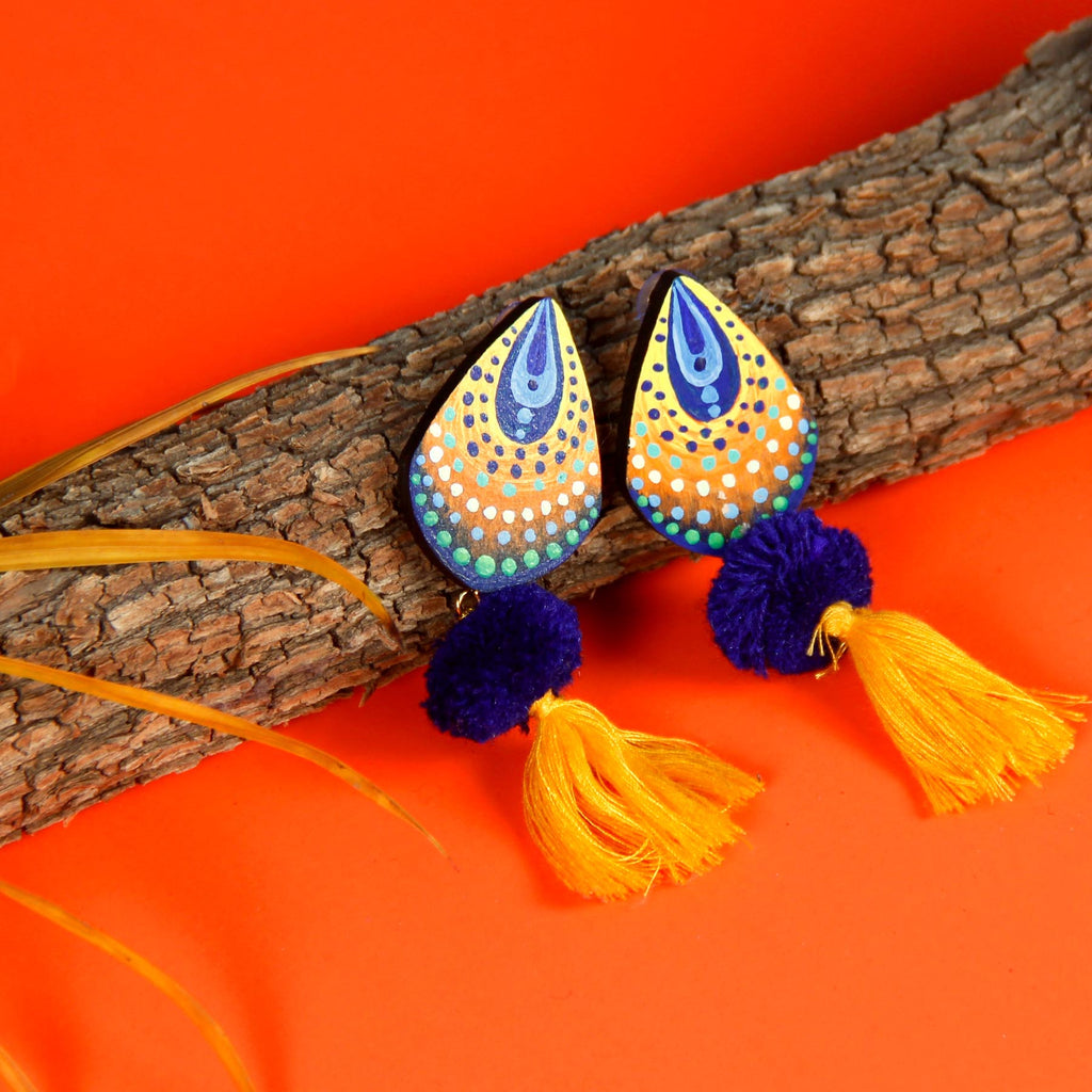 hnad-painted-street-style-western-wear-long-earrings-online-indian-store