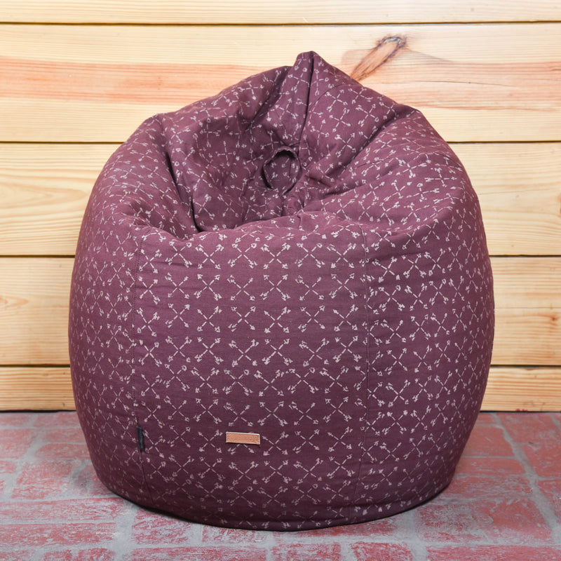 Garnet Arrows Bean Bag Cover
