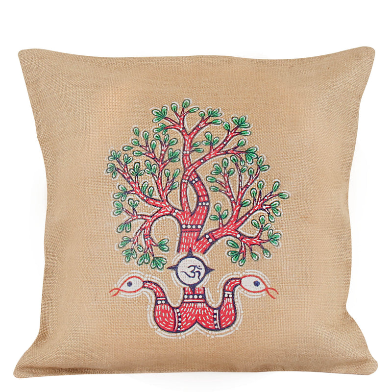Gond Tree Cushion Cover