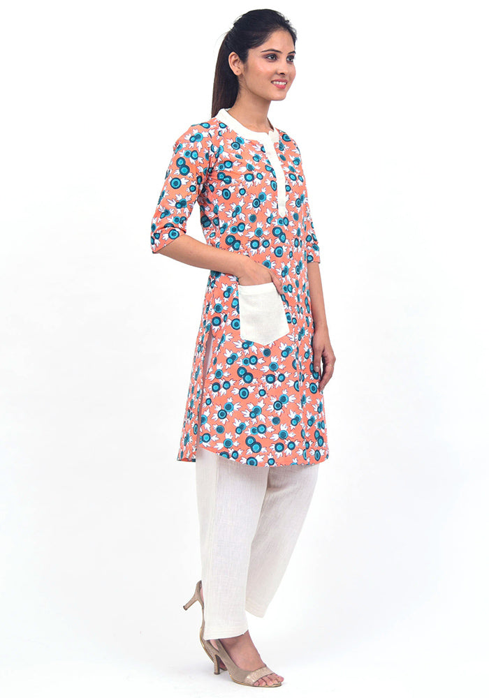 buy-peach-color-kurti-short-kurti-online-fashionable-kurti-for-female-online-india