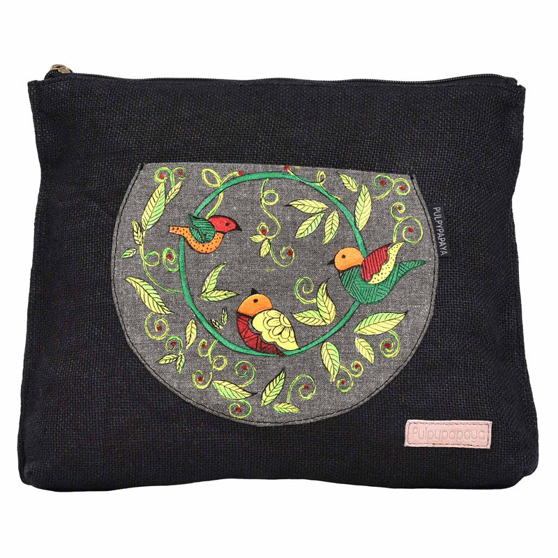 buy latest cotton textile canvas hand painted denim bag online in india designed by crafinno.com