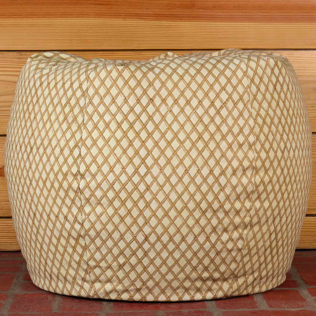 Creamy Criss Bean Bag Cover