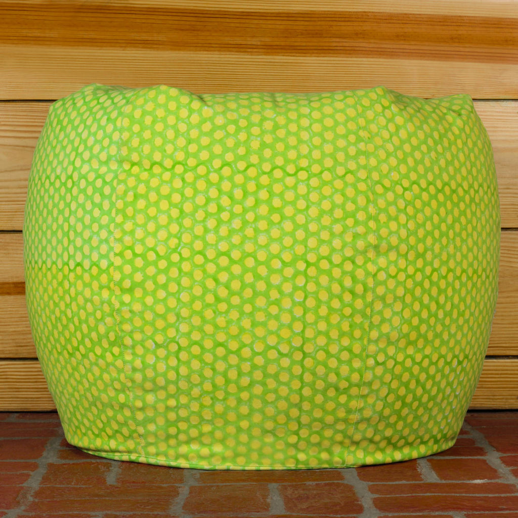 Lemon Polka Bean Bag Cover