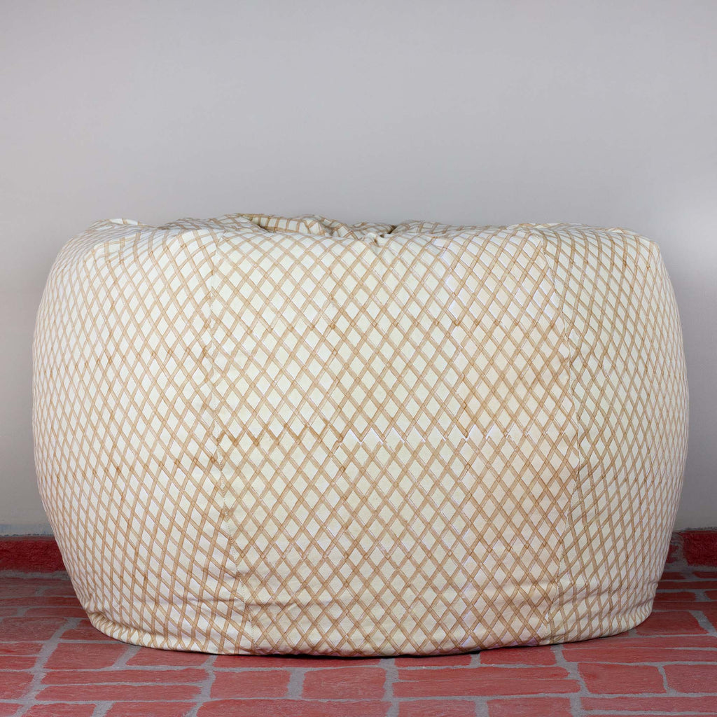 Creamy Criss Hillock Bean Bag Cover