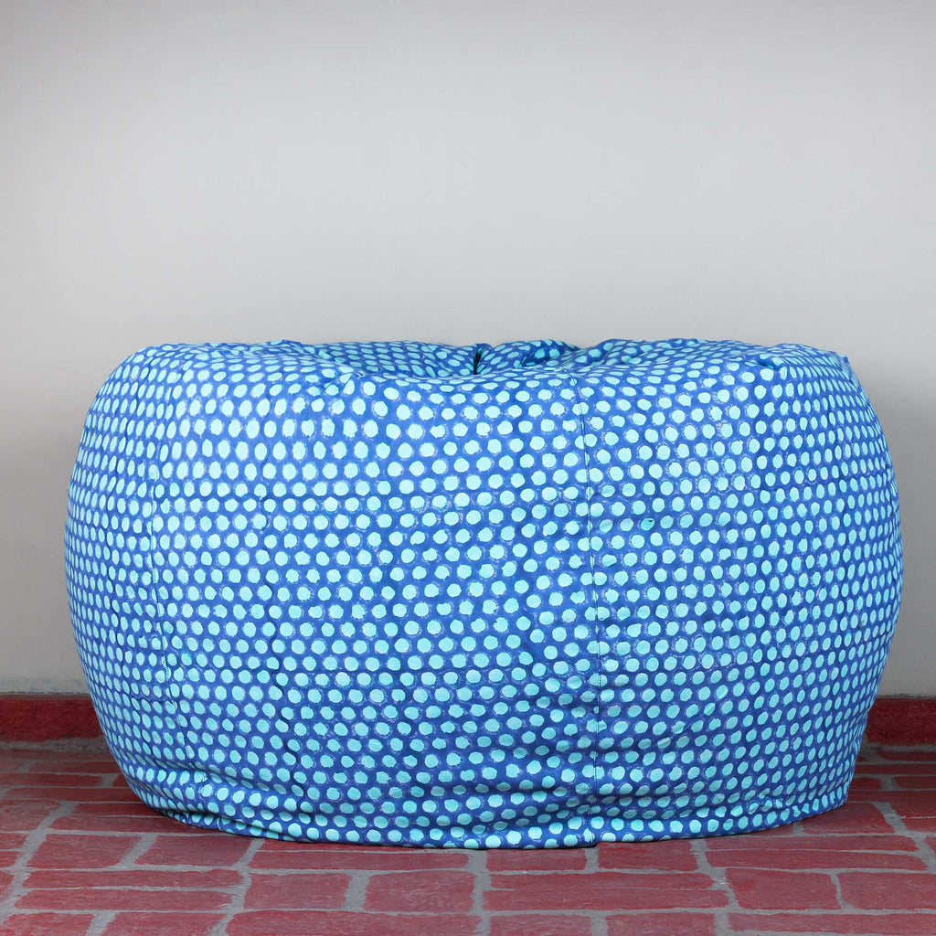 Sky Polka Hillock Bean Bag Cover