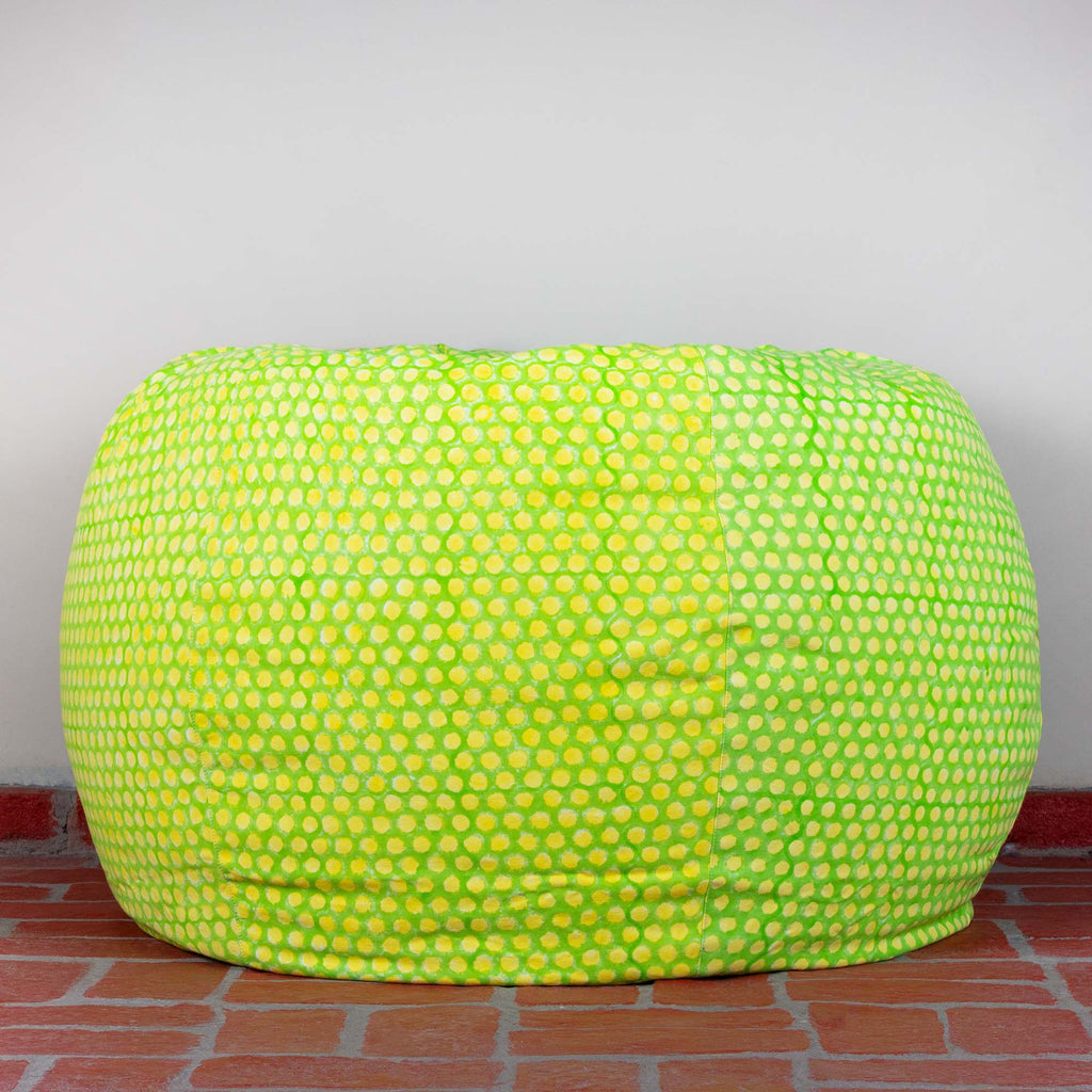 Lemon Polka Hillock Bean Bag Cover