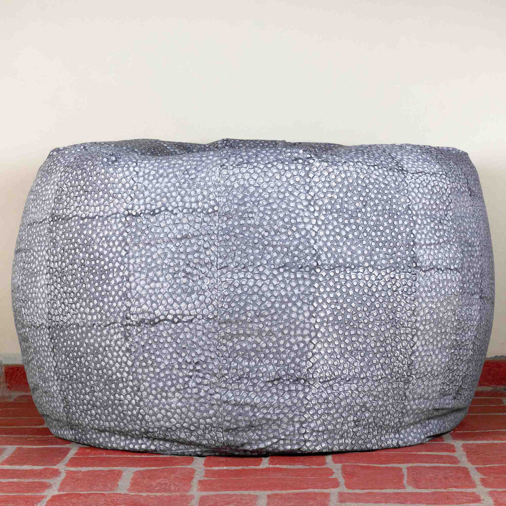 Geom Cobalt Hillock Bean Bag Cover