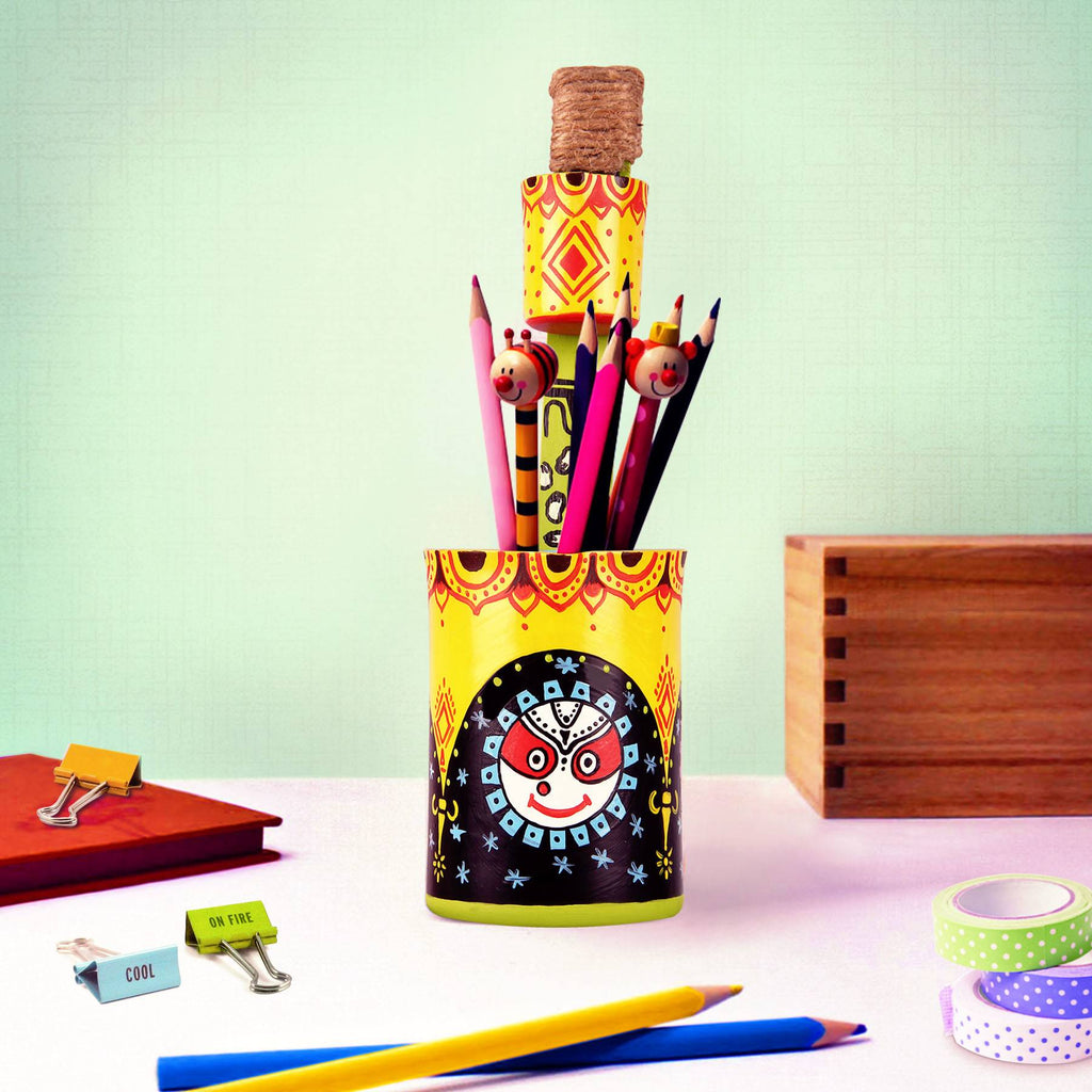 Jagannath hand painted Office pen stand online buy pulpypapaya