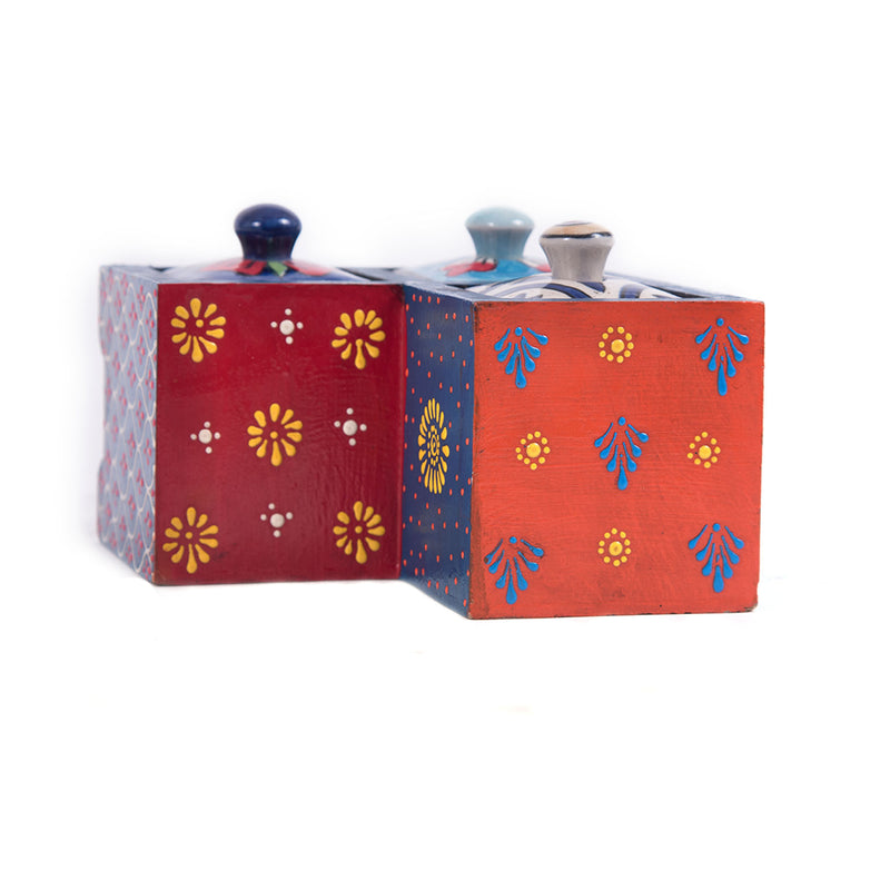 Blue-ceramic-pottery-buy-blue-pottery-3-drawer-small-wooden-chest-box-pulpypapaya