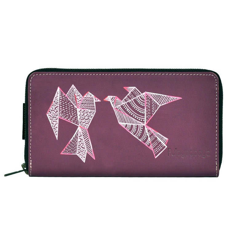 buy fancy girls zipper leather card holder best wallet bags online in india by crafinno.com