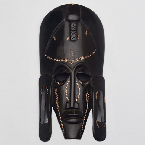 Yell-Oh Serene Eyes Wooden Mask