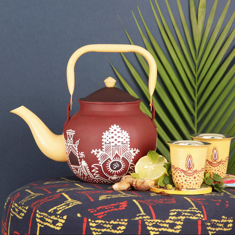 Sanganer Bloom Taj Kettle