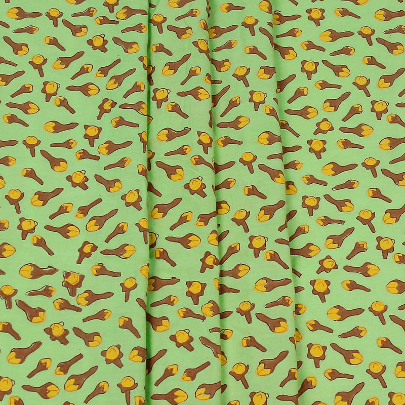 Mint-Clove-Block-Printed-Unstitched-Fabric-Modal-Cotton-online-unique-motifs