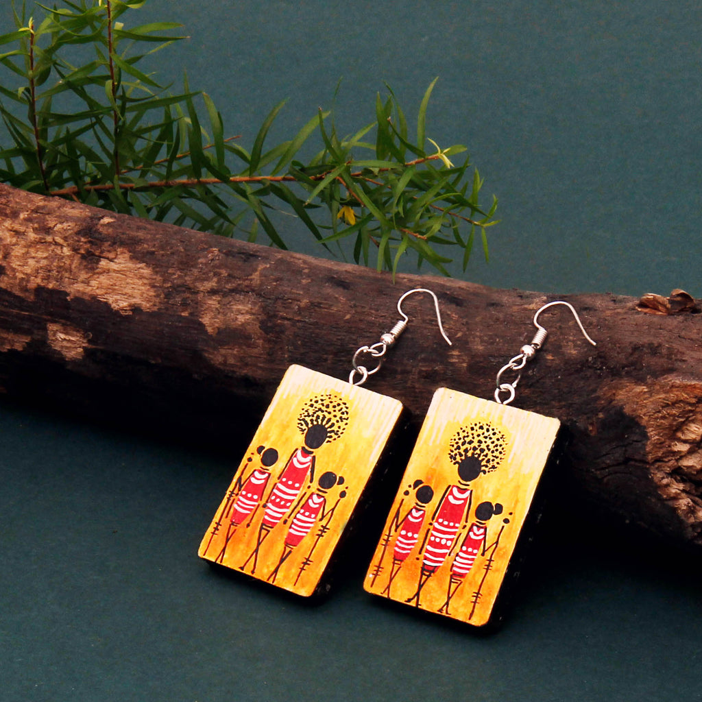 buy-hand-painted-wedding-wooden-african-art-earrings-online-india-uk