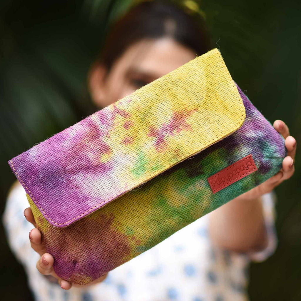 buy indian cotton fabric handcrafted multi color jute female bags wallets online at crafinno.com
