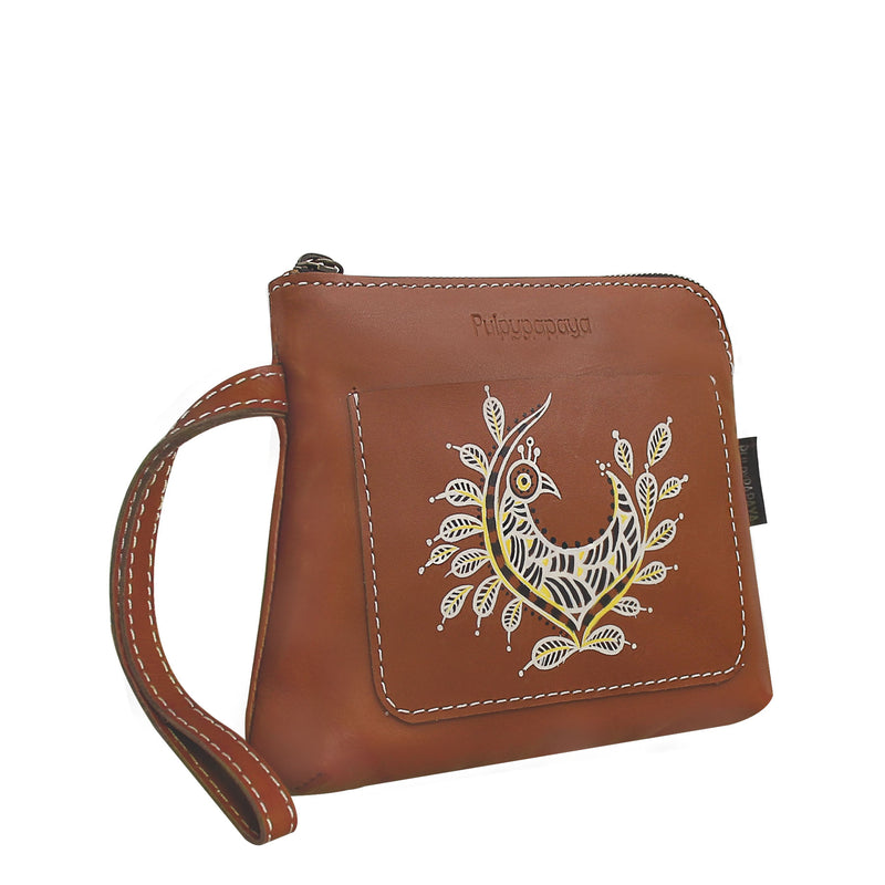 buy madhubani art authentic hand painted multipurpose bag clutches online in india by crafinno.com